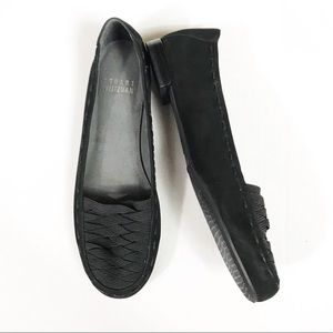 Stuart Weitzman Black Suede Loafer Flats